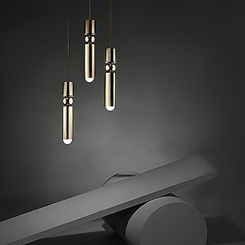 Polished Gold finish / 3 light / in use