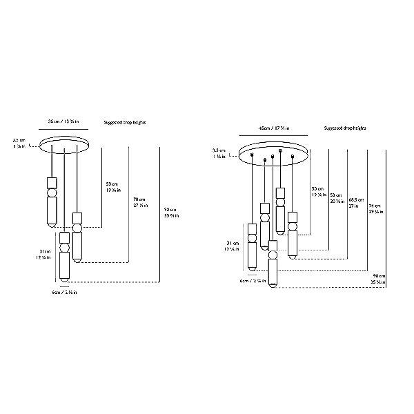 Fulcrum LED Multi-Light Pendant Light