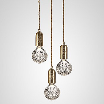 Clear Crystal / Polished Brass finish / 3 light