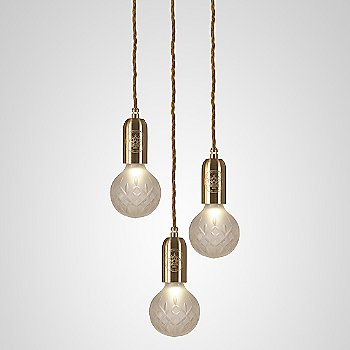 Frosted Crystal / Polished Brass finish / 3 light
