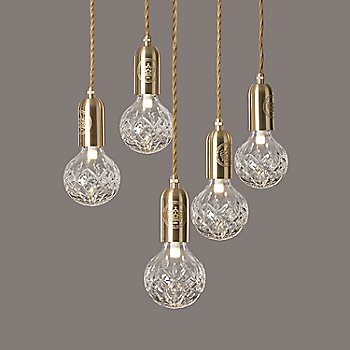Clear Crystal / Polished Brass finish / 5 light