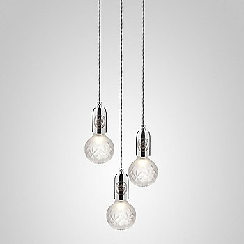 Frosted Crystal / Polished Chrome finish / 3 light