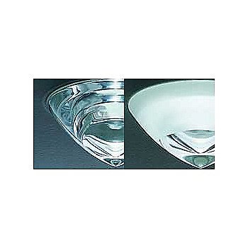 Crystal Clear Glass and White with Crystal Center Glass