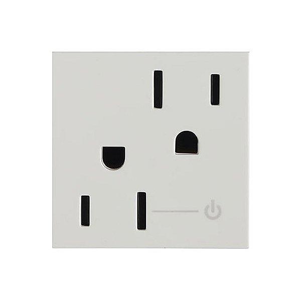 adorne Tamper Resistant Half Controlled Outlet, 2-Module