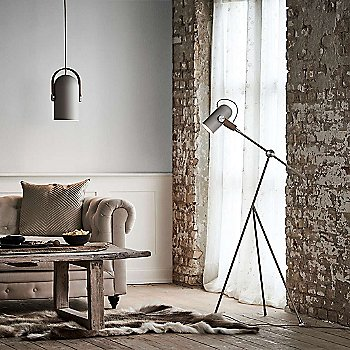 Carronade Adjustable Floor Lamp with Carronade Spot Pendant