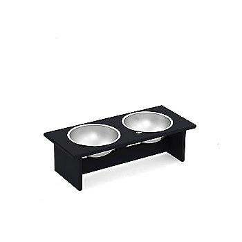 Minimalist Double Pet Bowl - Small, Charcoal Grey