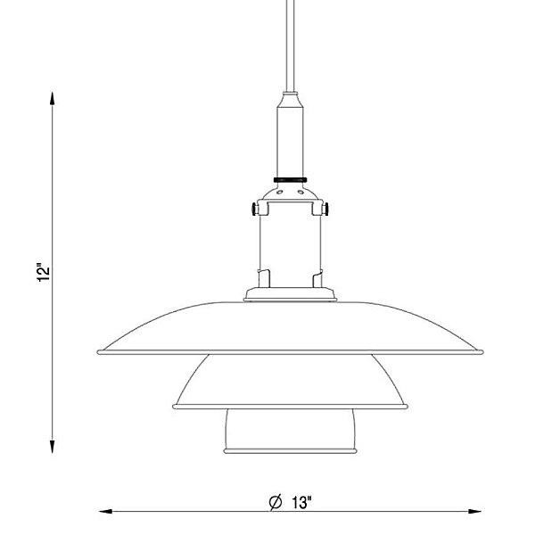 PH 3 ½ - 3 Pendant Light