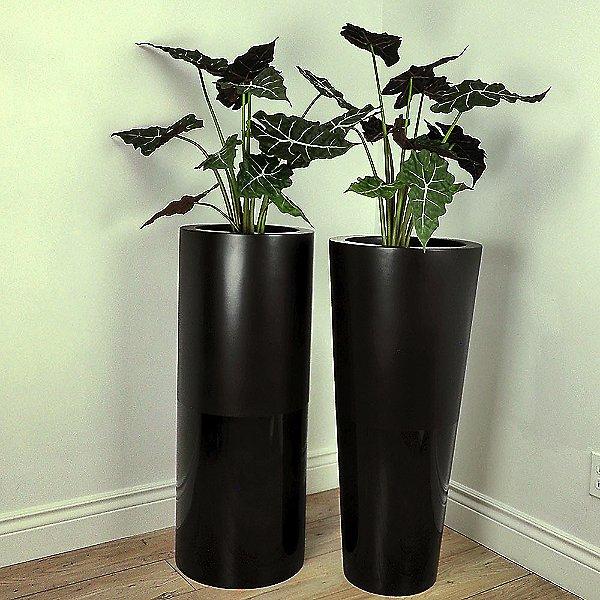 Duo Black Cylinder Planter