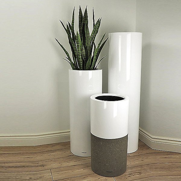 Lux Betona Duo Concrete Planter, Set of 3