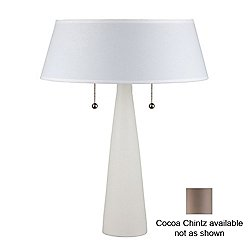Lizzy Table Lamp (Bisque/Cocoa Chintz) - OPEN BOX RETURN