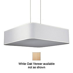 Blip Square 30 Inch Pendant Light (White Oak Ven) - OPEN BOX