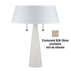 Lizzy Table Lamp (Bisque/Croissant Silk Glow) - OPEN BOX