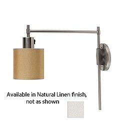 Walker Pin-Up Wall Sconce (Nickel/Natural Linen) - OPEN BOX