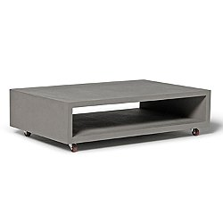 Monobloc Rectangular Coffee Table with Wheels
