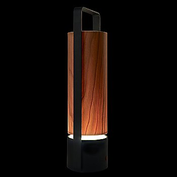 Shown lit in Natural Cherry shade, Black Lacquered finish