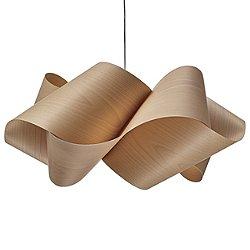 Swirl Pendant Light (Natural Beech/Brushed Nickel/Large/E26 Medium Base) - OPEN BOX RETURN