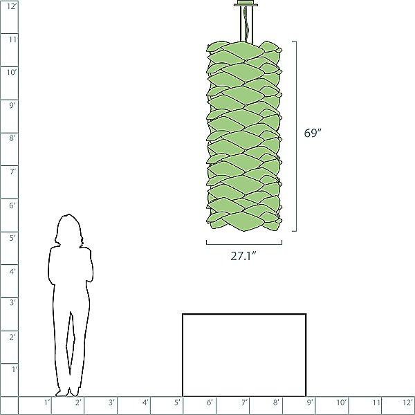 Link Chain Suspension Light