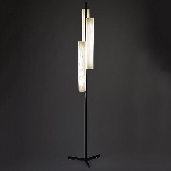 Black Note Triplet LED Floor Lamp