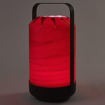 Red shade, illuminated