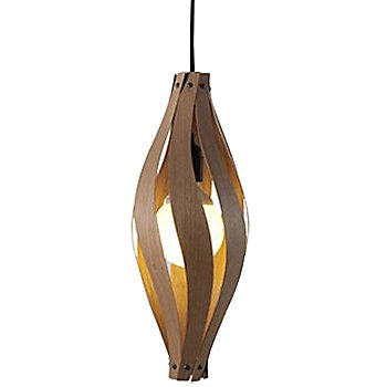 Shown lit in Walnut finish, Small