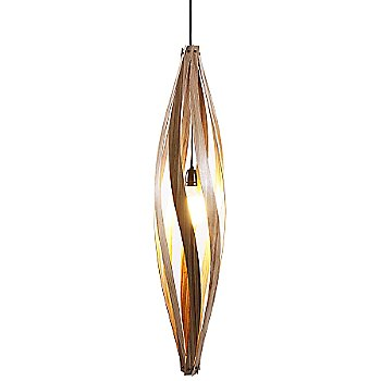 Shown lit in Walnut finish, Large