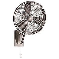 Anywhere Wet Rated Wall Fan(Nickel w/ Silvr blade)-OPEN BOX