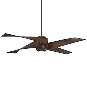 Oil Rubbed Bronze with Tobacco blades finish