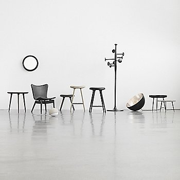 Pictured with the Shell Lounge Chair, Trumpet Coat Stand, Shade Light, Terho Lamp, Sophie Mirror, Disc Table, Bowl Table, Accent Side Table and Space Stools (sold separately)