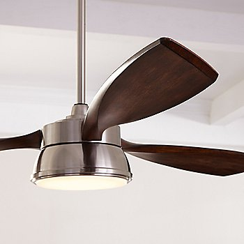 Shown in Brushed Steel with Koa blades