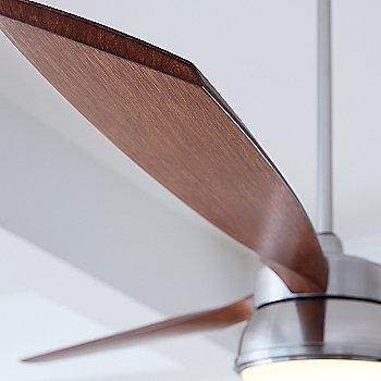 Brushed Steel with Koa blades