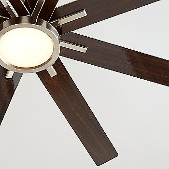 Brushed Steel with Gloss Walnut blades