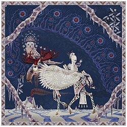 Polar Byzantine II Square Rug