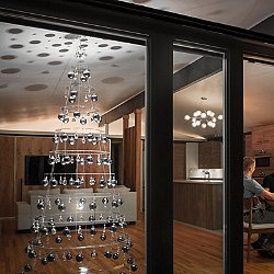 Modern Tree - Crystal with Silver Ornaments