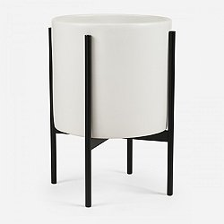 Case Study Cylinder with Metal Stand (L/White) - OPEN BOX