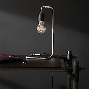 Stick System Shelving with Reade Table Lamp