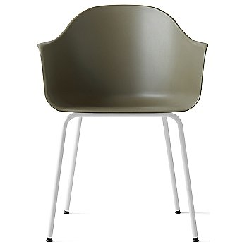 Green Polypropylene / White Steel finish