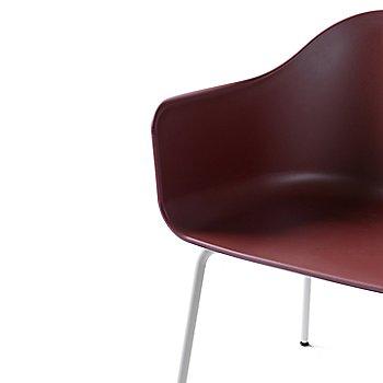 Red Polypropylene / White Steel finish