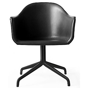 Black Swivel with Casters Legs / Dakar Leather: Black fabric