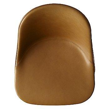 Natural Oak Legs / Dakar Leather: Cognac fabric / Detail view