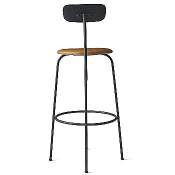 Bar Height / Black with Cognac Leather Fabric