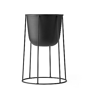 Pot with Medium Wire Base/Black