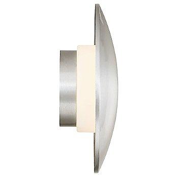 Brushed Aluminum finish / side view, illuminated