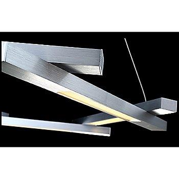 Brushed Aluminum finish / Detail view