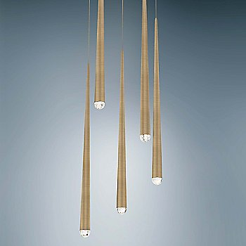 Aged Brass finish / 5 Light / Detail view