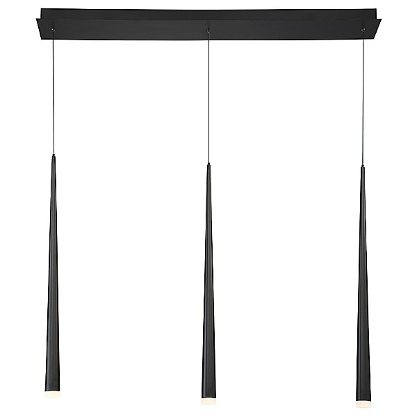 Cascade Etched Glass Linear Suspension Light