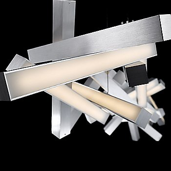 Brushed Aluminum finish / 72-Inch size / Detail view