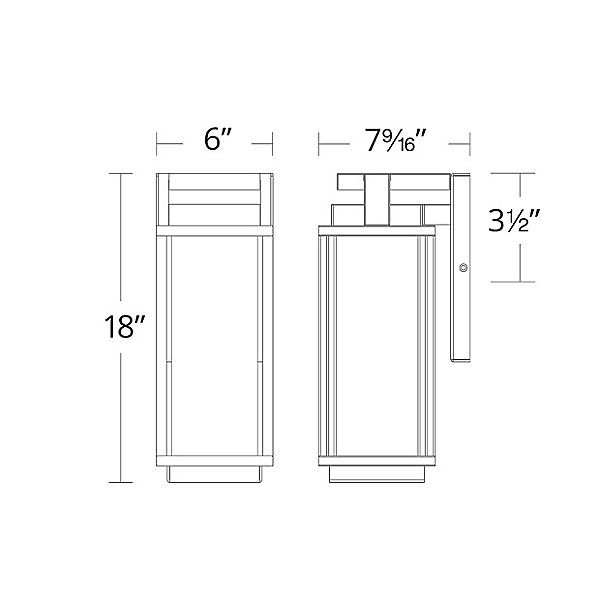 Two If By Sea LED Outdoor Wall Sconce