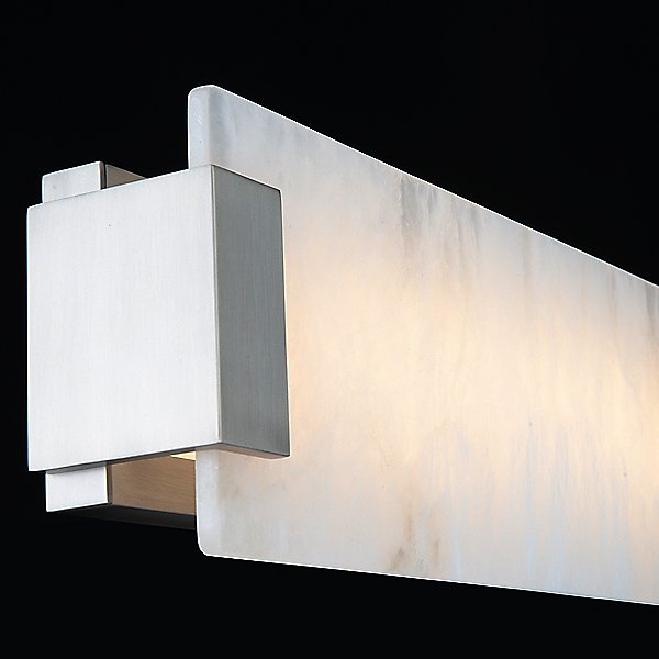 Quarry LED Alabaster Bathroom Vanity & Wall Light
