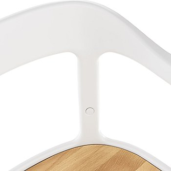 Natural Beech Seat/Legs with White Frame finish / Detail view