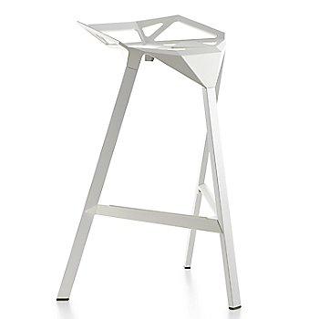 Barstool / White/Painted Aluminum Legs